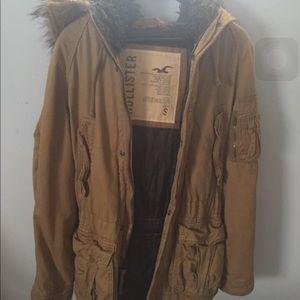 Hollister windbreaker fur hoodie jacket